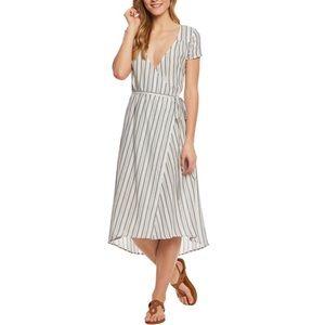 {Billabong }Blue Striped wrap dress